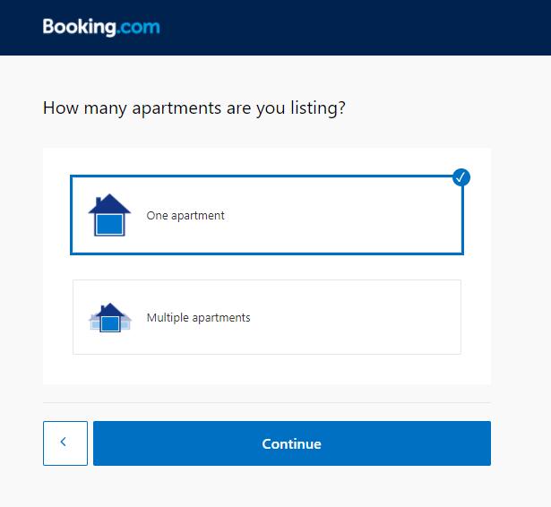 Listing apartments